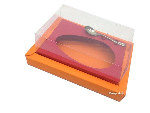 Caixa para Ovos de Colher 350g Laranja / Vermelho