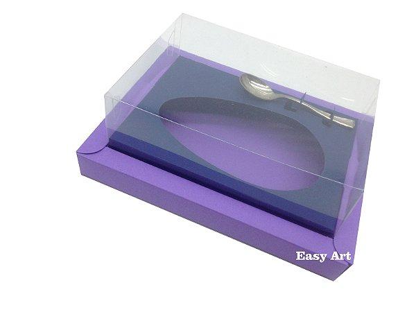 Caixa para Ovos de Colher 350g Lilás / Azul Marinho