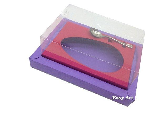 Caixa para Ovos de Colher 350g Lilás / Vermelho