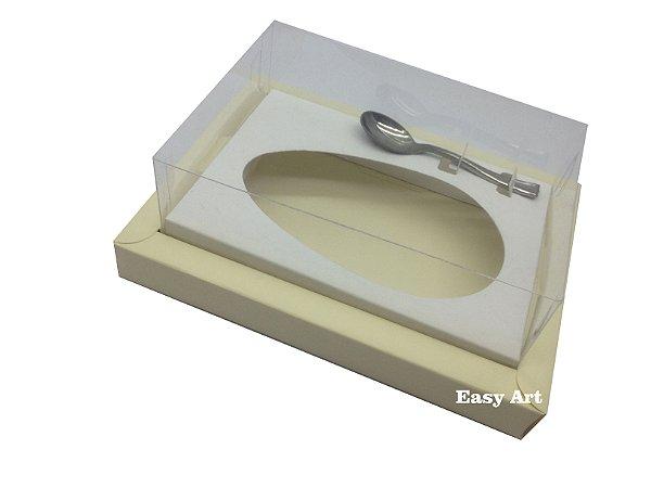 Caixa para Ovos de Colher 350g Marfim / Branco