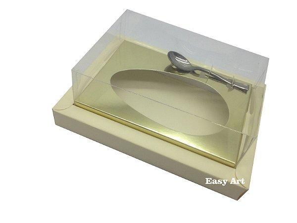 Caixa para Ovos de Colher 350g Marfim / Dourado