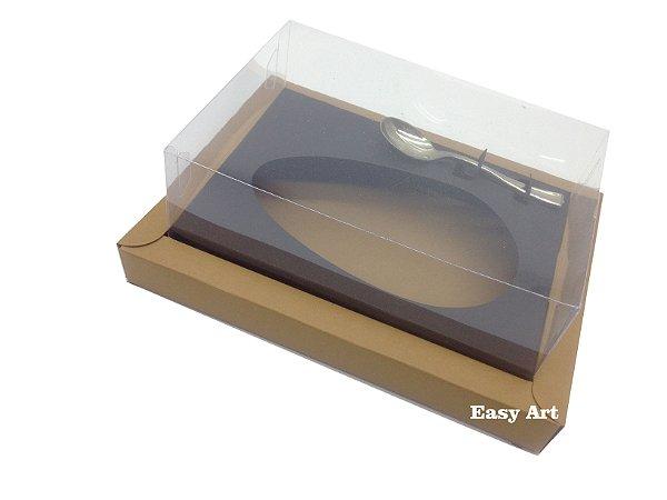 Caixa para Ovos de Colher 350g Marrom Claro / Preto