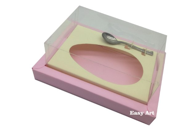 Caixa para Ovos de Colher 350g Rosa Claro / Marfim