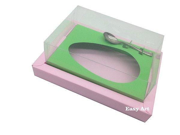 Caixa para Ovos de Colher 350g Rosa Claro / Verde Pistache