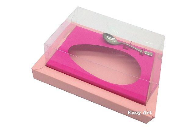 Caixa para Ovos de Colher 350g Salmão / Pink
