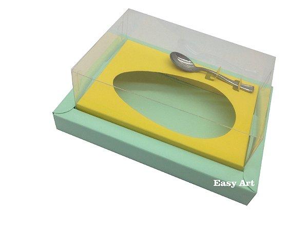 Caixa para Ovos de Colher 350g Verde Claro / Amarelo