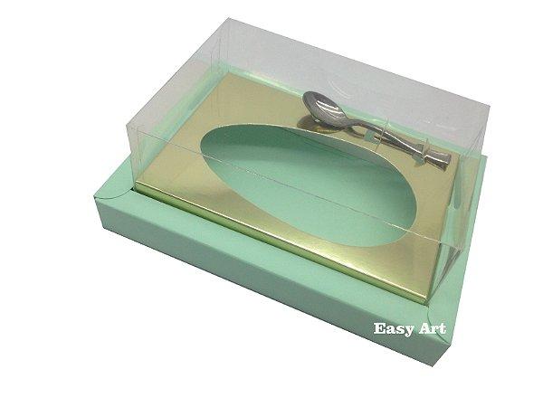 Caixa para Ovos de Colher 350g Verde Claro / Dourado