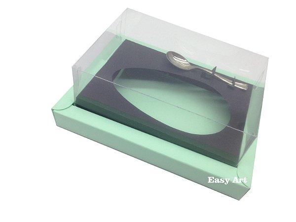 Caixa para Ovos de Colher 350g Verde Claro / Marrom