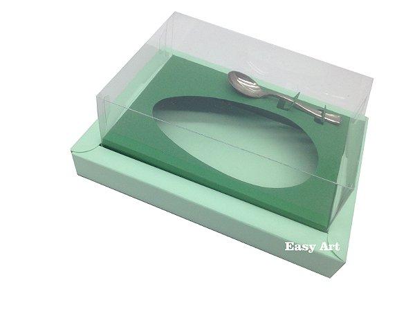 Caixa para Ovos de Colher 350g Verde Claro / Verde Bandeira