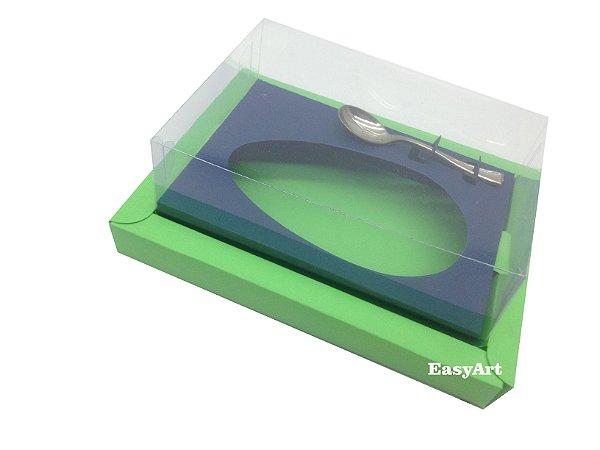 Caixa para Ovos de Colher 350g Verde Pistache / Azul Marinho