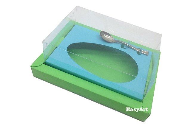 Caixa para Ovos de Colher 350g Verde Pistache / Azul Tiffany