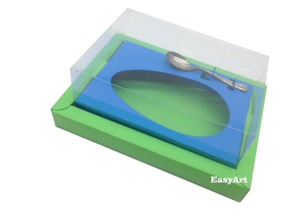 Caixa para Ovos de Colher 350g Verde Pistache / Azul Turquesa