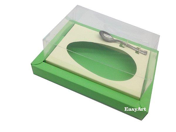 Caixa para Ovos de Colher 350g Verde Pistache / Marfim