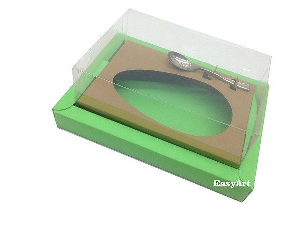 Caixa para Ovos de Colher 350g Verde Pistache / Marrom Claro