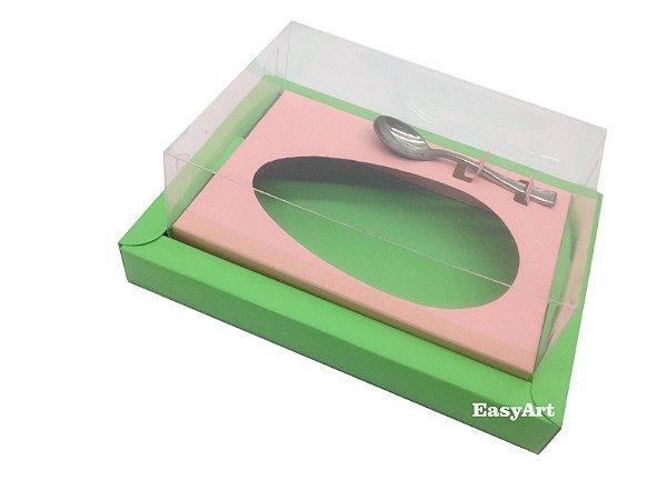 Caixa para Ovos de Colher 350g Verde Pistache / Salmão
