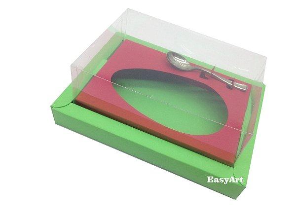 Caixa para Ovos de Colher 350g Verde Pistache / Vermelho