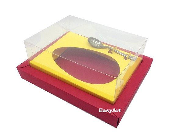 Caixa para Ovos de Colher 350g Vermelho / Amarelo