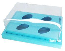 Caixa para Ovos de Colher 4X 50g - Pct com 10 Unidades