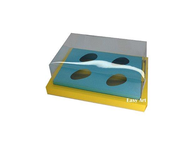 Caixa para Ovos de Colher 4X 50g / Amarelo - Azul Tiffany