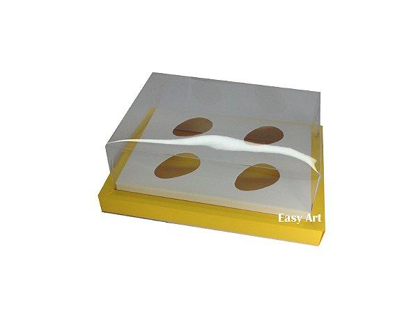 Caixa para Ovos de Colher 4X 50g / Amarelo - Branco