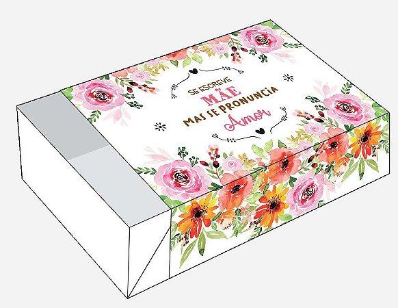 Caixa Se Escreve Mãe Se Pronuncia Amor / 06 Brigadeiros - 12x8x3,5