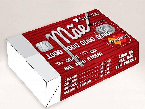 Caixa Mãe Cartão de Crédito /  06 Brigadeiros - 12x8x3,5