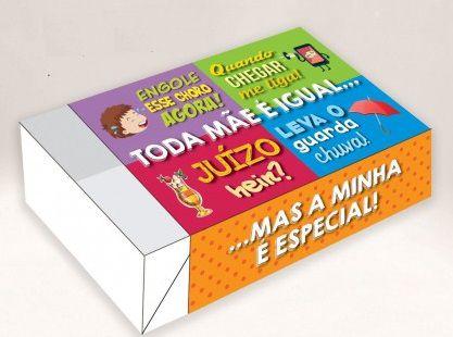 Caixa Mãe Frases /  06 Brigadeiros - 12x8x3,5