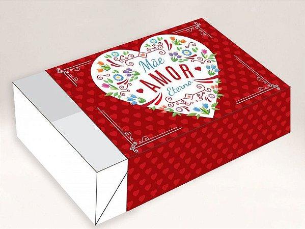 Caixa Mãe Amor Eterno / 06 Brigadeiros - 12x8x3,5