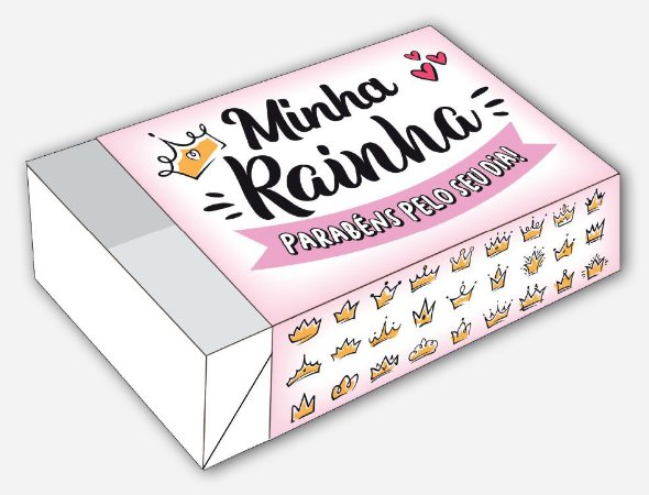 Caixa Mãe Minha Rainha / 06 Brigadeiros - 12x8x3,5