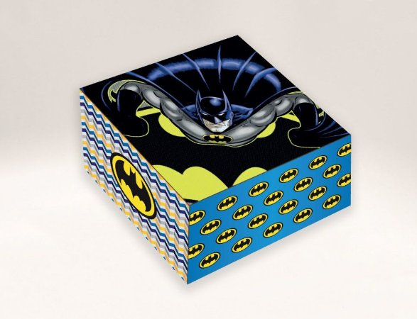 Caixa Batman /  04 Brigadeiros - 8x8x3,5