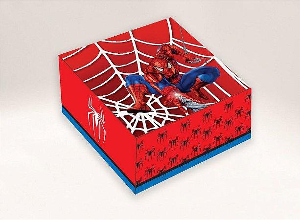 Caixa Homem Aranha / 04 Brigadeiros - 8x8x3,5