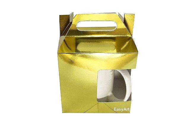 Caixa para Canecas - Dourado
