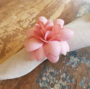 Porta Guardanapos / Flores de Tecido - Angélica