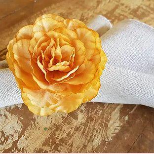 Porta Guardanapos / Flores de Tecido - Júlia Média - Pct com 24 Unidades