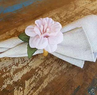 Porta Guardanapos / Flores de Tecido - Bela