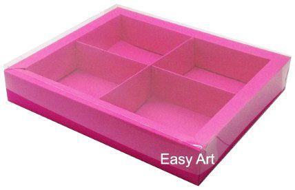 Caixas para Brownies / Biscoitos / Brigadeiros / Sabonetes - Pink