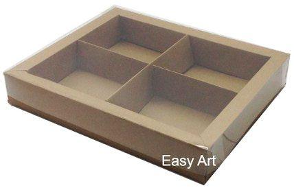 Caixas para Brownies / Biscoitos / Brigadeiros / Sabonetes - Marrom Claro
