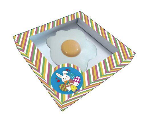 Caixa para Ovo Frito de Chocolate - 12x12x2