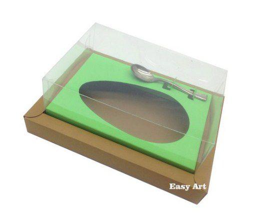 Caixa para Ovos de Colher 250g - Kraft / Verde Pistache
