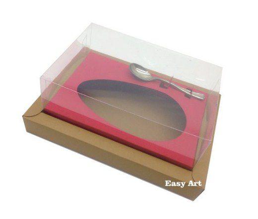 Caixa para Ovos de Colher 250g - Kraft / Vermelho