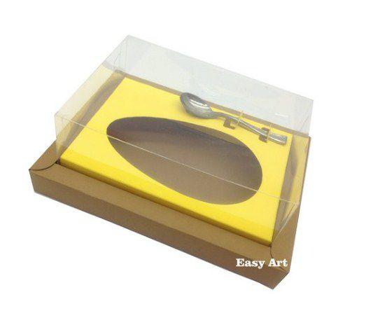Caixa para Ovos de Colher 250g - Kraft / Amarelo