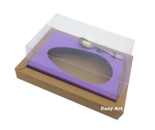 Caixa para Ovos de Colher 250g - Kraft / Lilás