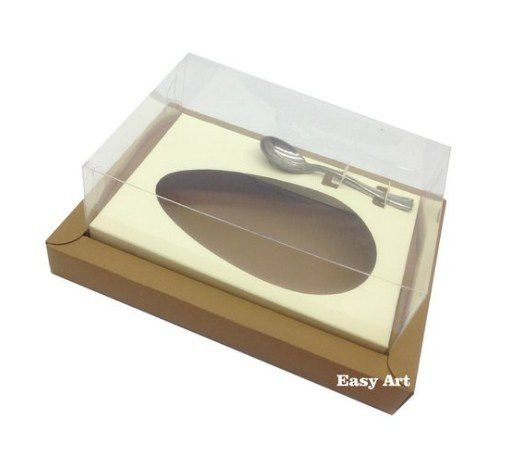 Caixa para Ovos de Colher 500g - Kraft / Marfim