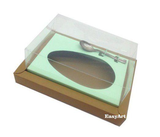 Caixa para Ovos de Colher 500g - Kraft / Verde Claro