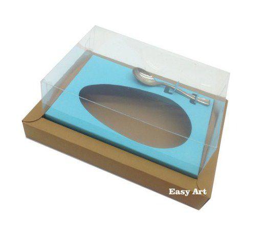 Caixa para Ovos de Colher 350g - Kraft / Azul Tiffany