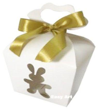 Caixa Maleta Coelho Vazado - Branco