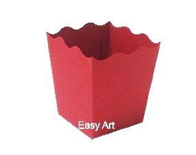 Cachepô / Caixa para Pipoca - Vermelho