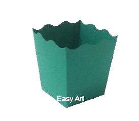 Cachepô / Caixa para Pipoca - Verde Bandeira