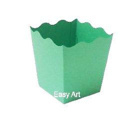 Cachepô / Caixa para Pipoca - Verde Pistache