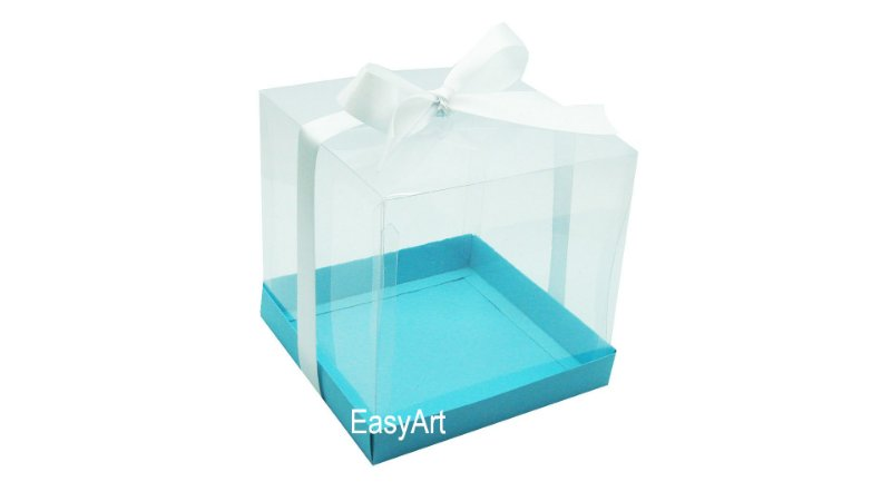 Caixinha para Mini Bolos - Azul Tiffany